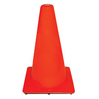 3M 90128-00001 Safety Cones, PVC, 18 In Hght, Non-Reflective