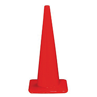 3M 90129-00006 Safety Cones, PVC, 28 In Hght, Non-Reflective
