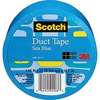 Scotch 920-BLU-C Duct Tape, 1.88 in W x 20 yd L x 6-1/2 mm T, Blue