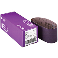 3M 761D Resin Bond Power Sanding Belt, 18 in x 3 in, P150 Grit