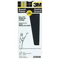 3M Pro-Pak Die-Cut Waterproof Sanding Screen, 11 in x 4-3/16 in, 120 Grit