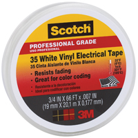 3/4 WHITE ELECTRICAL TAPE