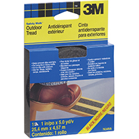 3M Safety-Walk Non-Skid Step and Ladder Tread Tape, 180 in L x 1 in W, Black