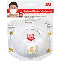 3M Tekk Protection 8511HA1-C Disposable Sanding and Fiberglass Valved Respirator, 95 %