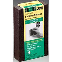 3M DSXF-F Sanding Sponge, Large, 2-7/8 in L x 4-7/8 in W x 1 in T, Aluminum Oxide, Black