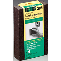 3M DSFM-F All-Purpose Sanding Sponge, Large, 2-7/8 in L x 4-7/8 in W x 1 in T, Black