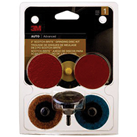 3M 03050 AUTOMOTIVE Grinding Finish Disc Kit, 5 Pieces, 2 in