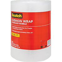 3M 7954 Cushion Wrap, 50 ft L x 12 in W, Clear