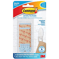 3M BATH22-ES Refill Strip, Blue