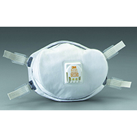3M 8233 Disposable Particulate Respirator, Standard, N100, 99.97 %, White