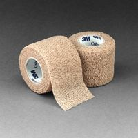 "3M+ 2"" X 5 Yards Tan Coban+ Self-Adherent Wrap"