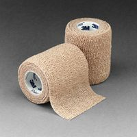 "3M+ 4"" X 5 Yards Tan Coban+ Self-Adherent Wrap"