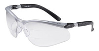 3M+ BX+ Dual Readers 2.0 Diopter Safety Glasses With Silver And Black Frame And Clear Polycarbonate Anti-Fog Lens