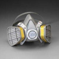 3M+ Medium Thermoplastic Elastomer Series 5000 Half Mask Organic Vapor/Acid Gas Disposable Air Purifying Respirator