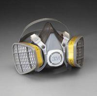 3M+ Large Thermoplastic Elastomer Series 5000 Half Mask Organic Vapor/Acid Gas Disposable Air Purifying Respirator
