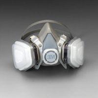 3M+ Medium Thermoplastic Elastomer Series 5000 Half Mask Organic Vapor/P95 Disposable Dual Cartridge Air Purifying Respirator