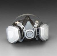 3M+ Large Thermoplastic Elastomer Series 5000 Half Mask Organic Vapor/P95 Disposable Dual Cartridge Air Purifying Respirator
