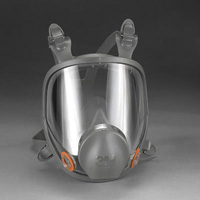 3M+ Large Thermoplastic Elastomer Full Face Reusable Series 6000 Facepiece