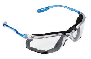 3M� Virtua� CCS Safety Glasses With Blue And Clear Polycarbonate Frame, Clear Polycarbonate Anti-Fog Lens And Foam Gasket Attach