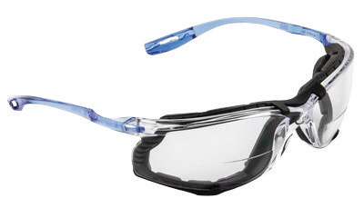 3M� Virtua� CCS 2.0 Diopter Safety Glasses With Clear Frame, Clear Polycarbonate Anti-Fog Lens And Foam Gasket Attachment