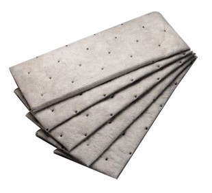 "3M� 7 1/2"" X 20 1/2"" Light Gray Polypropylene And Polyester High Capacity Maintenance Sorbent Pad"