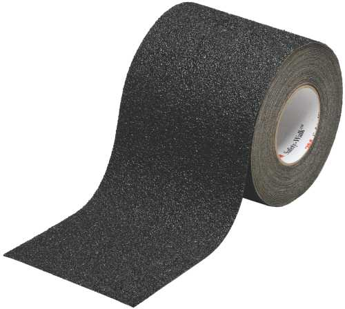 3M� SAFETY-WALK� SLIP-RESISTANT GENERAL PURPOSE TAPES AND TREADS 610, BLACK, 4 IN. X 20 YD. ROLL