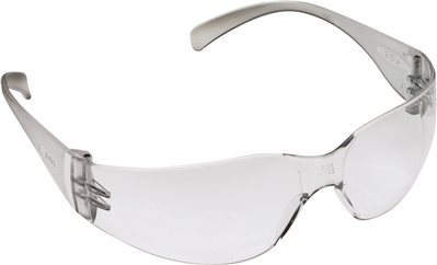 3M VIRTUA SAFETY GLASSES, CLEAR FRAME, CLEAR HARDCOAT LENS