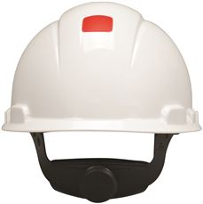 3M� HARD HAT H-701R-UV, WHITE, 4-POINT RATCHET SUSPENSION, WITH UVICATOR