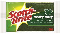 3M SCOTCH-BRITE HEAVY DUTY SCRUB SPONGE, GREEN, 6 PER PACK