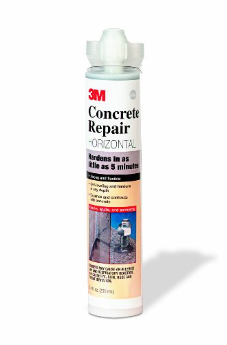 3M� CONCRETE REPAIR, SELF-LEVELING, 600, GRAY, 8.4 OZ. CARTRIDGE/2 MIX NOZZLES