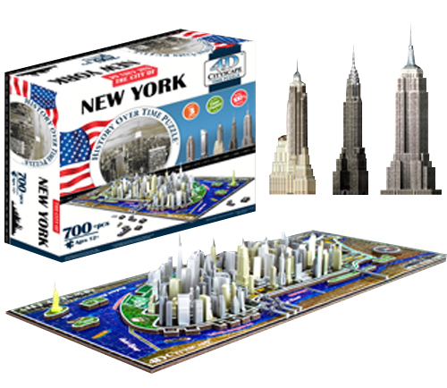 4D New York Skyline Time Puzzle