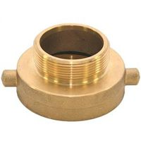 Abbott Rubber JBHA-150 Hydrant Adapter, 2-1/2 Inch NST X 1-1/2 Inch NPT, Brass