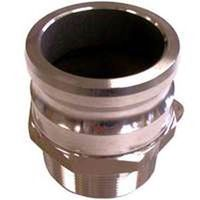 Abbott Rubber QF-200-DC Type F Cam Lock Hose Coupling, 2 in, Adapter x MNPT, Aluminum
