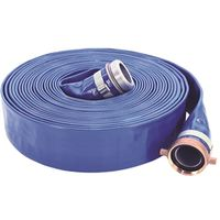 ABBOTT RUBBER 1147-2000-50-FN Pump Discharge Hose, 2 in x 50 ft, Female NPSH Threaded Swivel x Male NPT Nipple, PVC