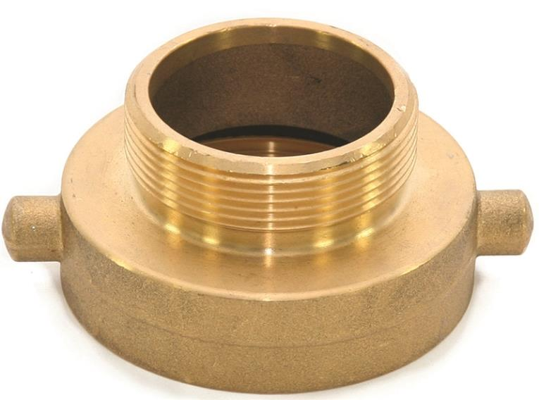Abbott Rubber JBHA-200 Hydrant Adapter, 2-1/2 Inch FNST X 2 Inch MNPT, Brass