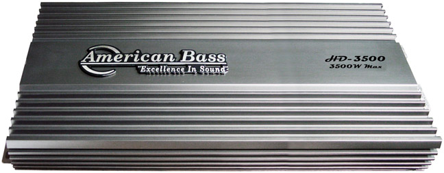 American Bass 3500W HD Series Amplifier