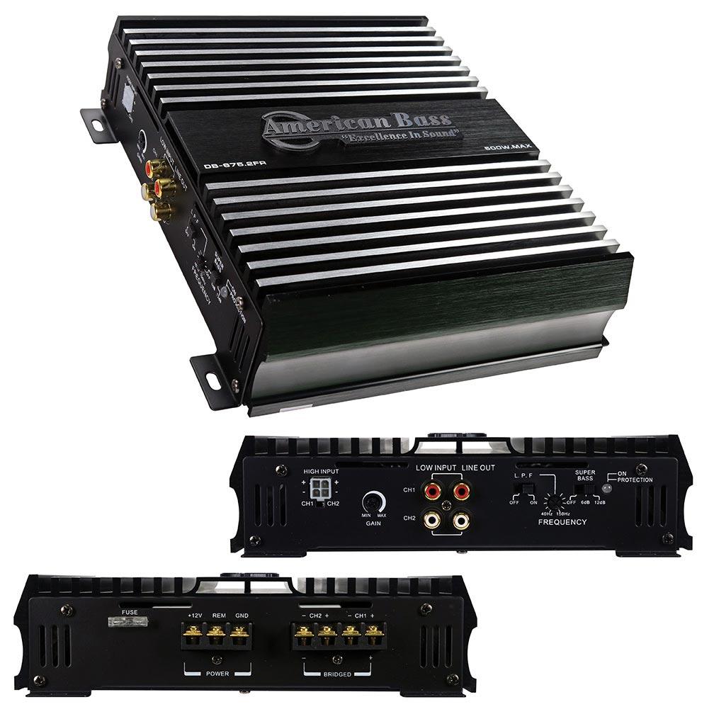 American Bass 2 Channel Class A/B Ampilfier 500 Watts Max