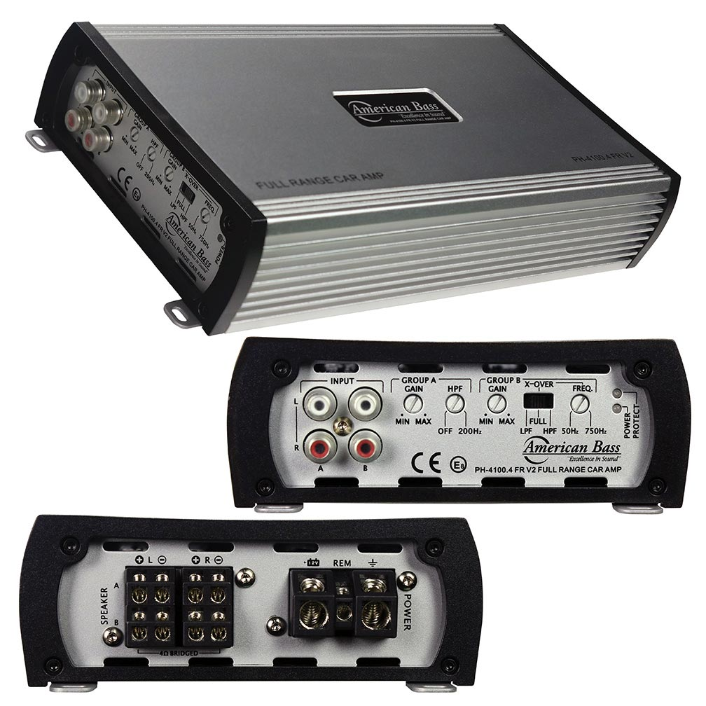 American Bass Amp 4 Channel 2 Ohm stable 480 Watts Max