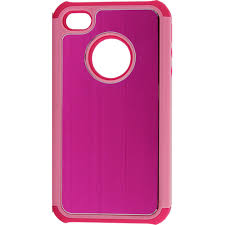 ACCELLORIZE 71410 PINK PINK  IPHONE 4 4S PHONE CASE  WITH A