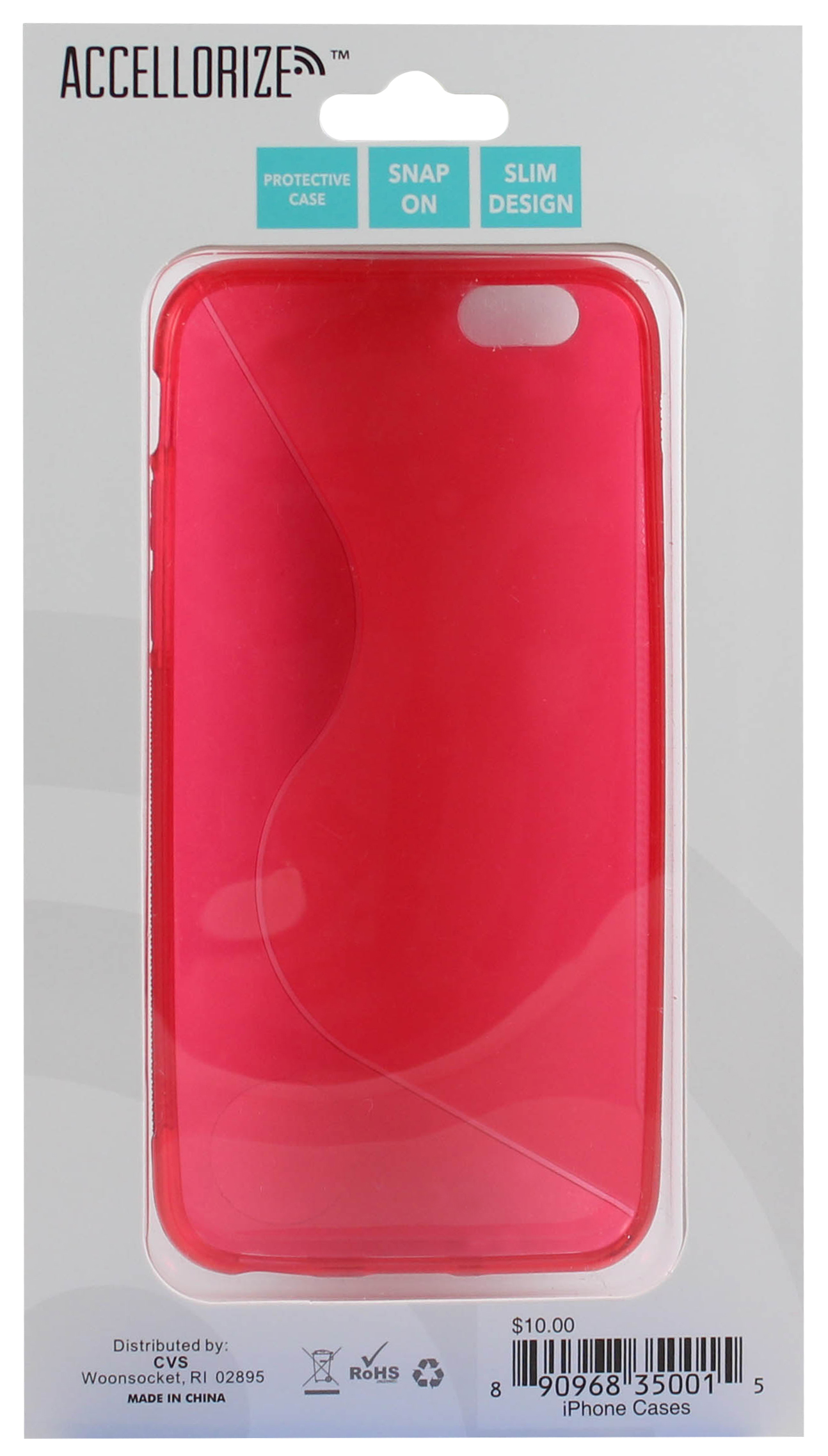 ACCELLORIZE 35001 RED PROTECTIVE CASE FOR IPHONE 6 MADE OF