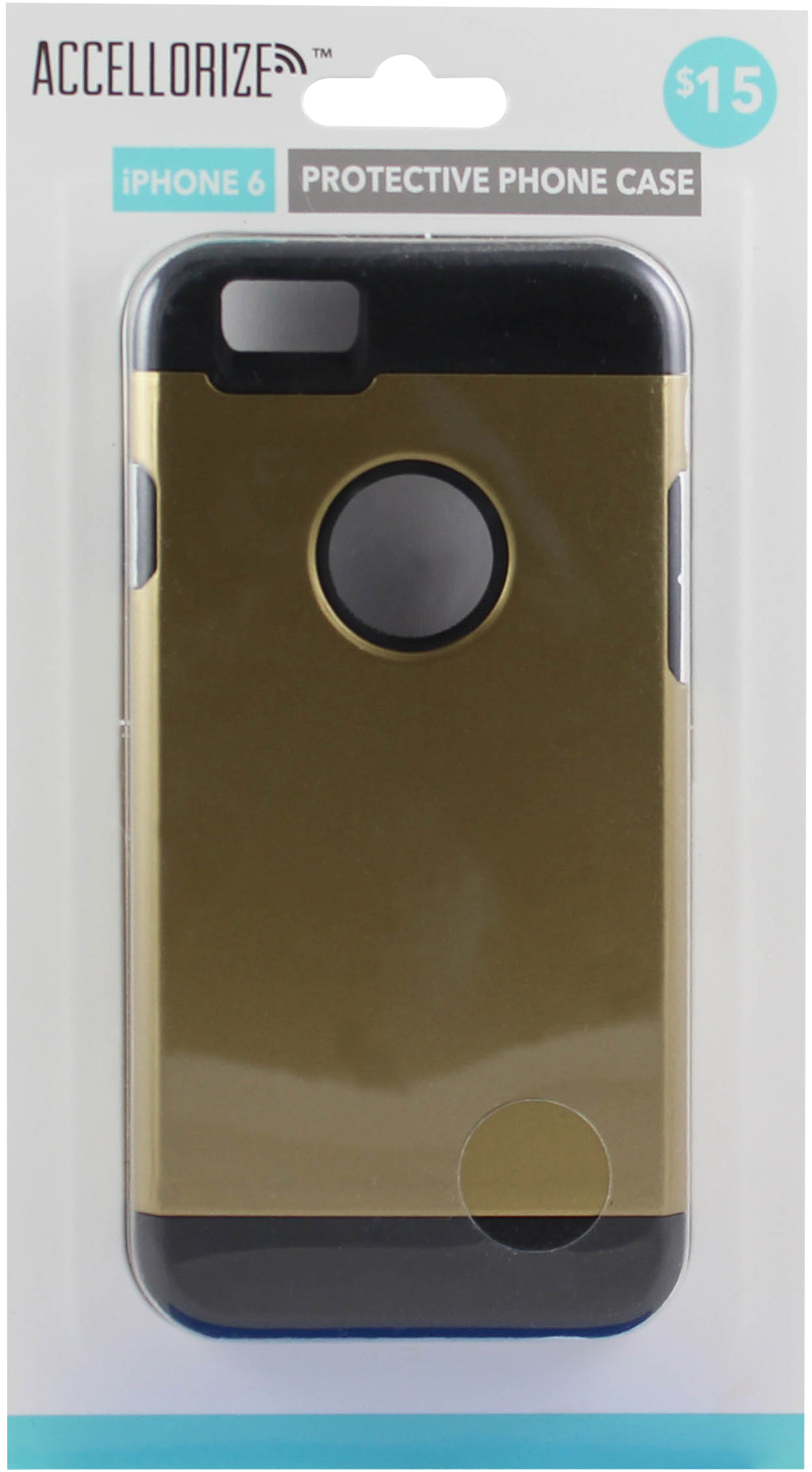ACCELLORIZE 35007 GOLD BLACK PROTECTIVE CASE FOR IPHONE 6