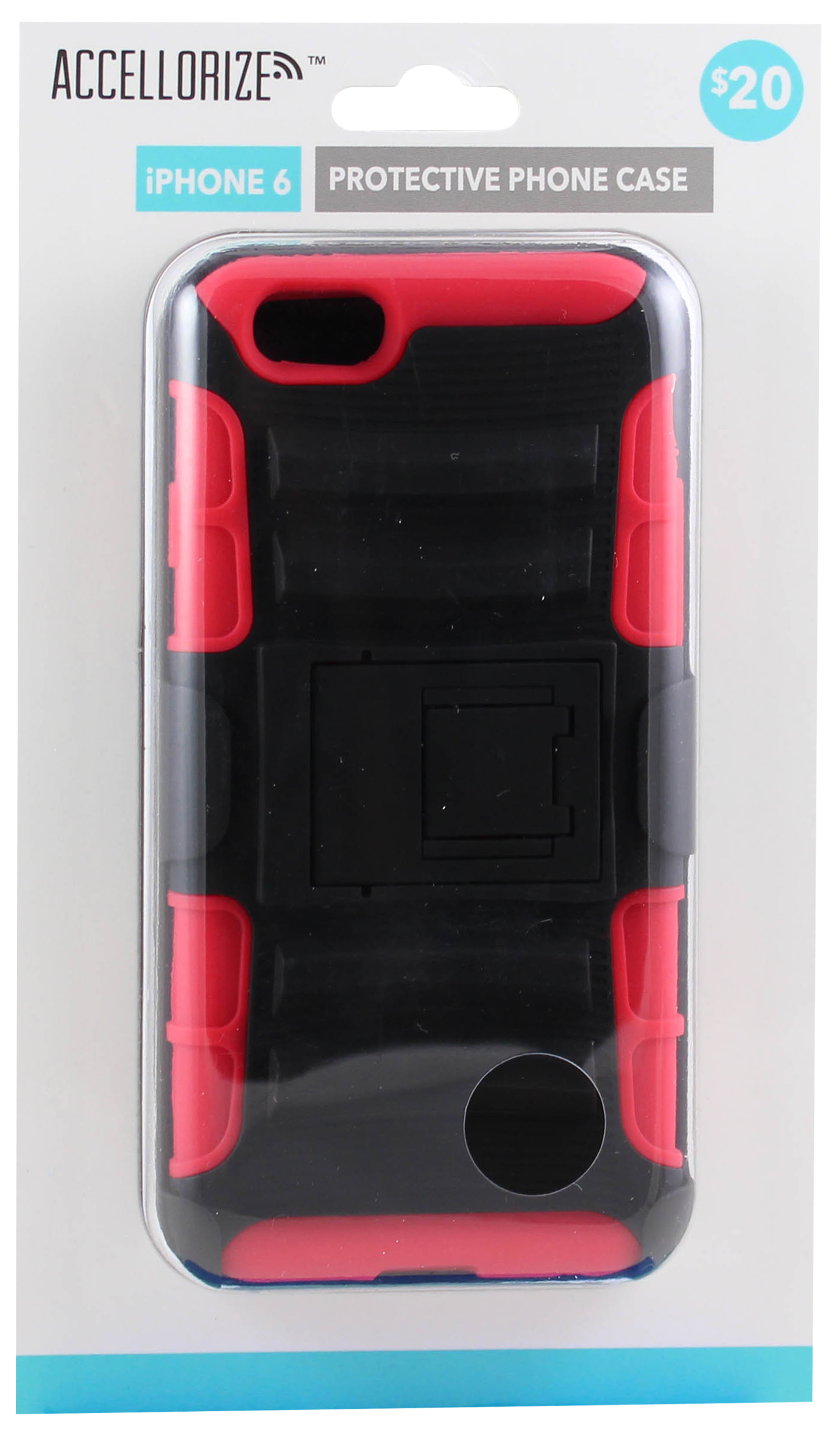 ACCELLORIZE 35009 BLACK & RED PROTECTIVE CASE FOR IPHONE 6