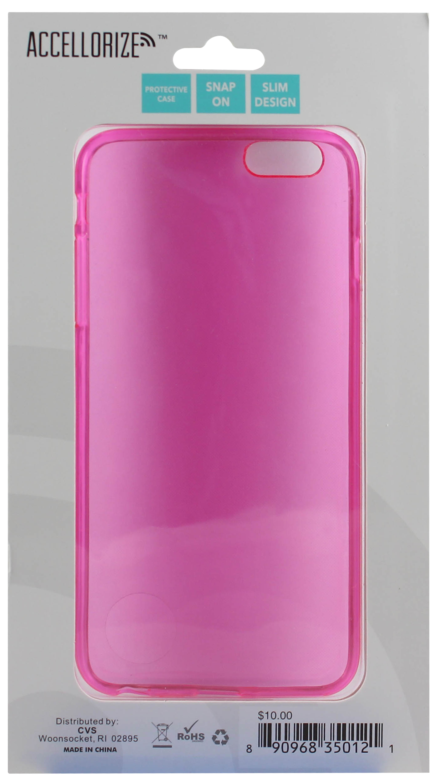 ACCELLORIZE 35012 PINK PROTECTIVE CASE FOR IPHONE 6 MADE OF