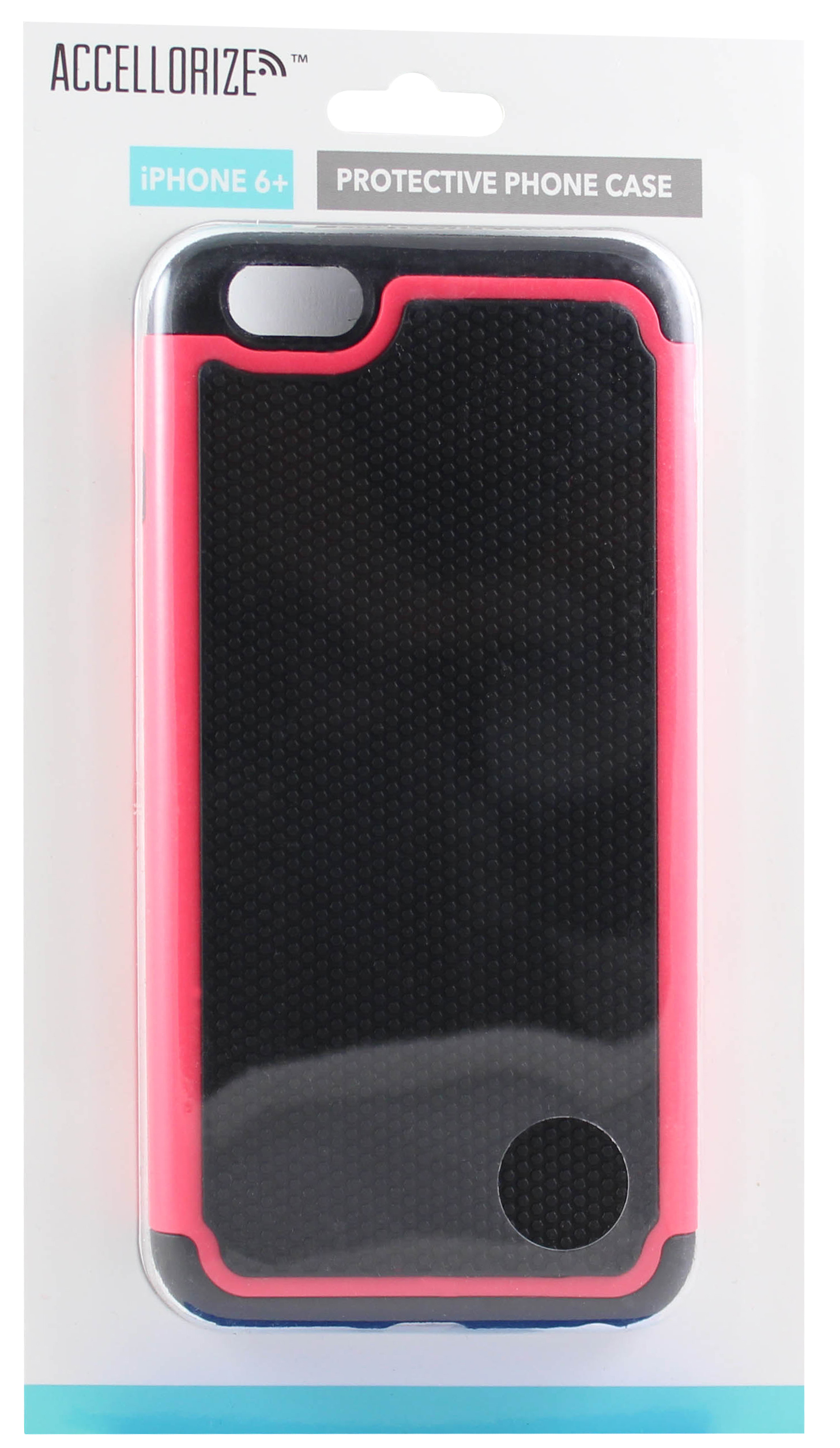 ACCELLORIZE 35014 BLACK & PINK PROTECTIVE CASE FOR IPHONE 6