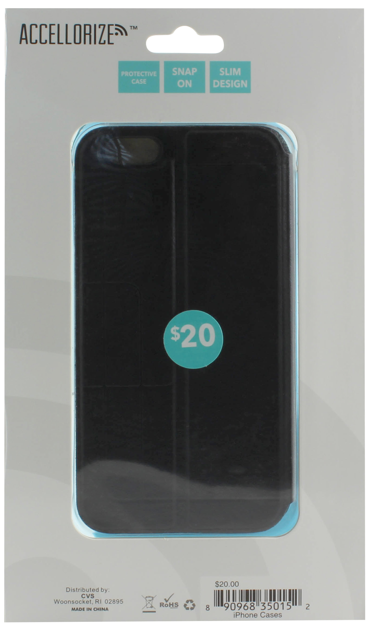 ACCELLORIZE 35015 BLACK  PROTECTIVE CASE FOR IPHONE 6 MADE O