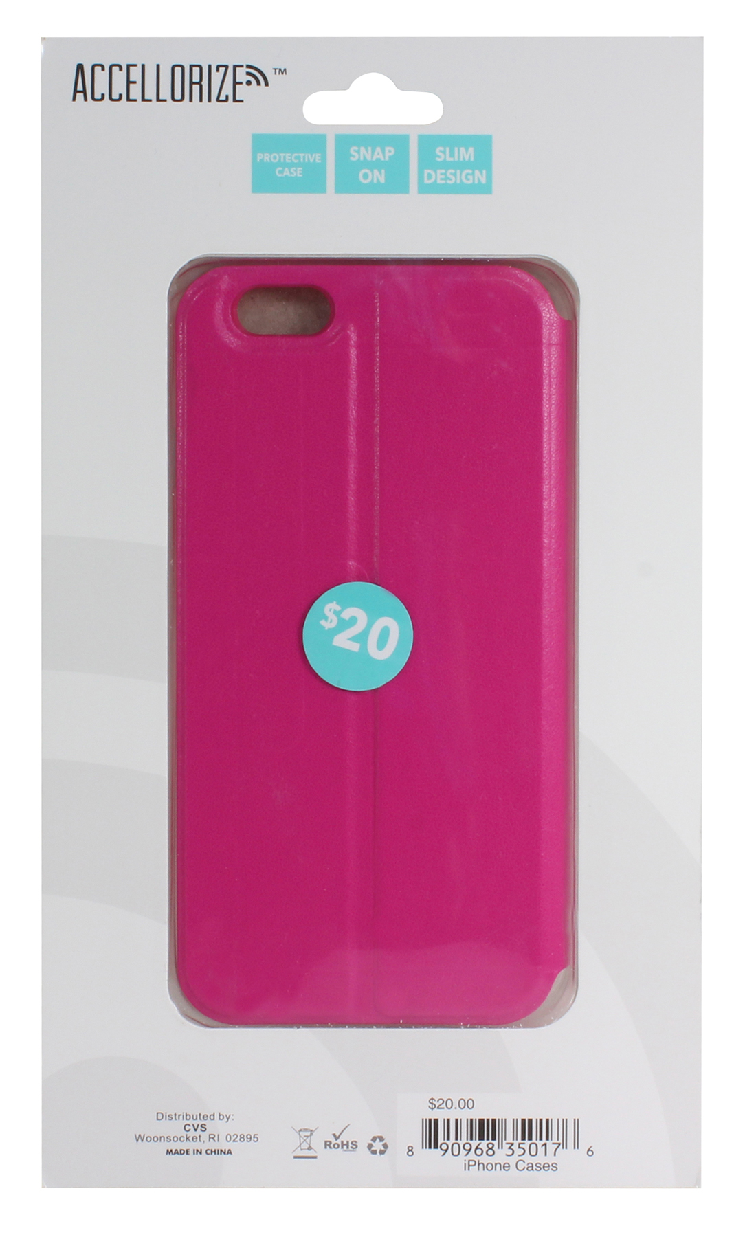 ACCELLORIZE 35017 PINK PROTECTIVE CASE FOR IPHONE 6 MADE OF