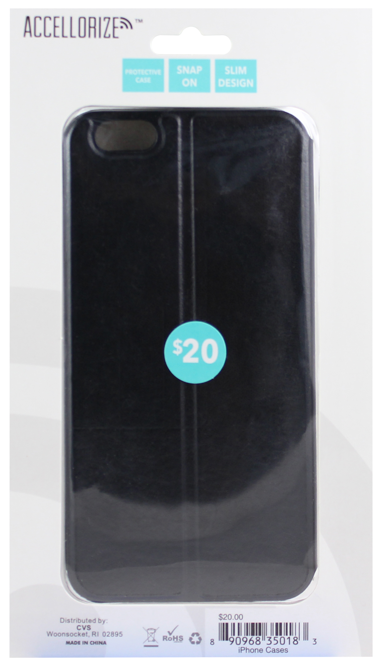 ACCELLORIZE 35018 BLACK PROTECTIVE CASE FOR IPHONE 6 MADE OF