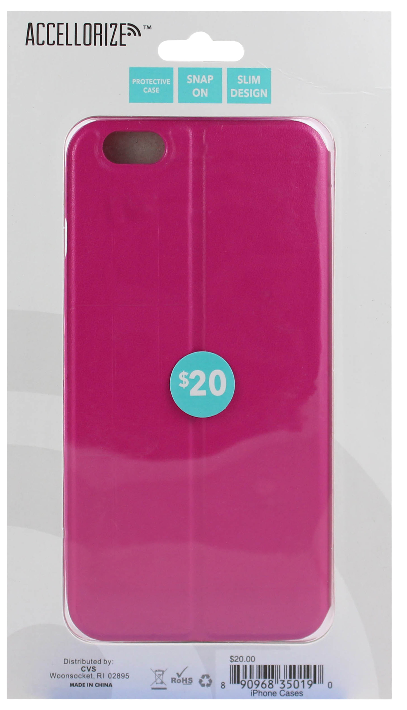 ACCELLORIZE 35019 PINK PROTECTIVE CASE FOR IPHONE 6 MADE OF