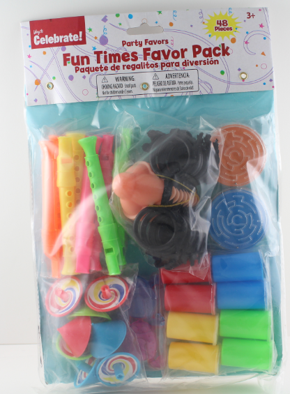 ACCELLORIZE 88527 PARTY FAVOR 48 PIECE FUN TIMES PACK MADE O