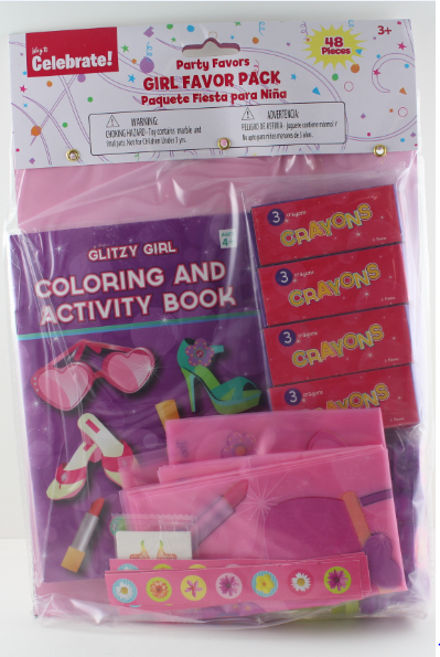 ACCELLORIZE 92206 PARTY FAVOR 48PIECE GIRL FAVORS PARTY PACK
